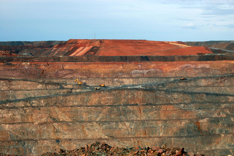 Gold mine in Australia stock image