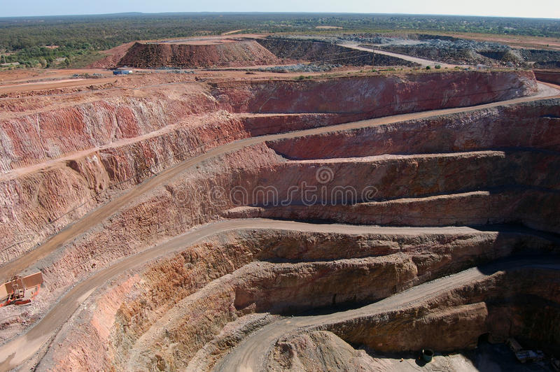 Gold mine open pit stock images