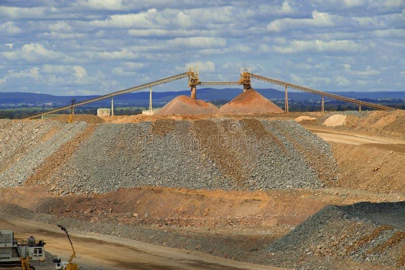 Gold mine ore pile stock photo