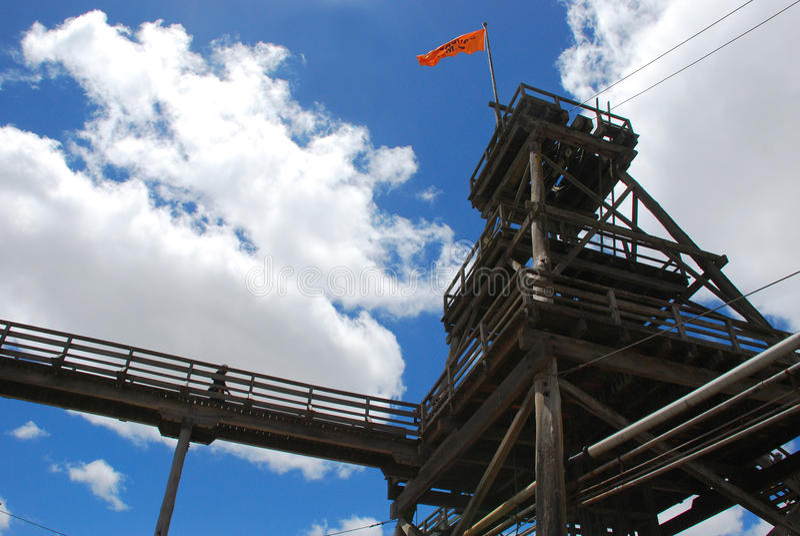 Mine. Gold mine at sovereign hill,ballarat, victoria stock images