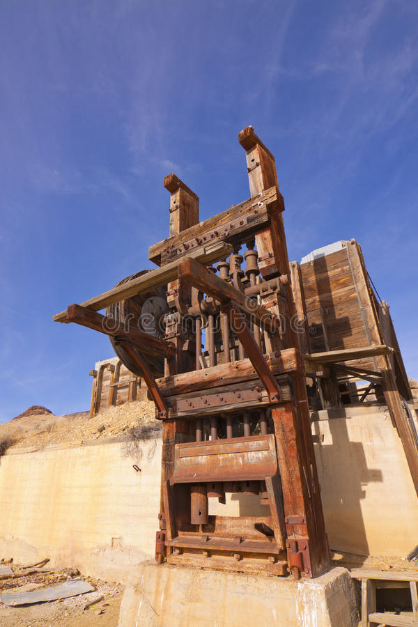 Gold Mine Stamp Mill royalty free stock photos