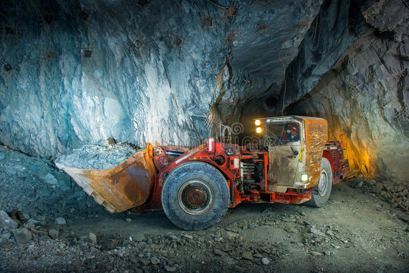 Gold mine tunnel royalty free stock photography
