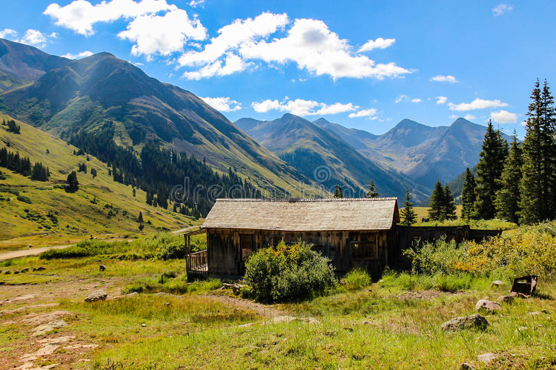Gold Miners Cabin at Animas Forks Colorado. High in the Rockies the little community of Animas Forks was established as a gold mining town, now just a ghost town royalty free stock images