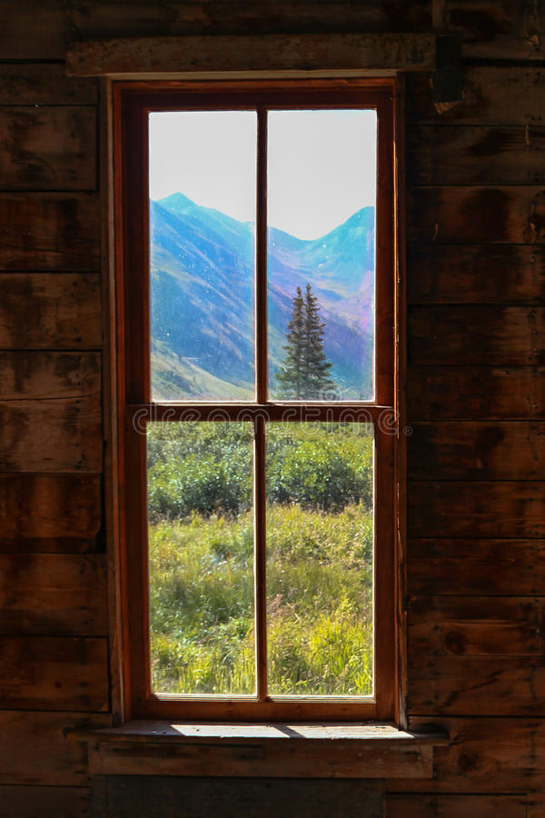 Gold Miners Cabin at Animas Forks Colorado. High in the Rockies the little community of Animas Forks was established as a gold mining town, now just a ghost town stock image