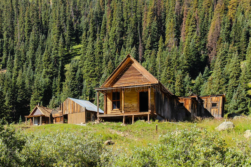 Gold Miners Cabin at Animas Forks Colorado. High in the Rockies the little community of Animas Forks was established as a gold mining town, now just a ghost town stock images