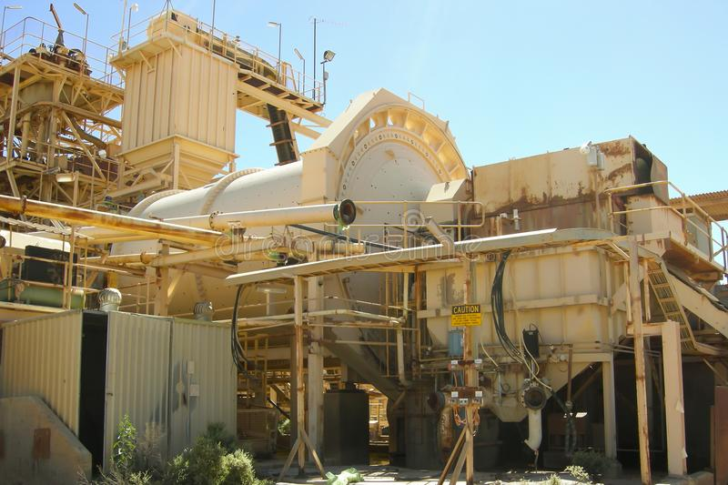 Gold Mining Process Plant. Gold Mining Industrial Process Plant stock images
