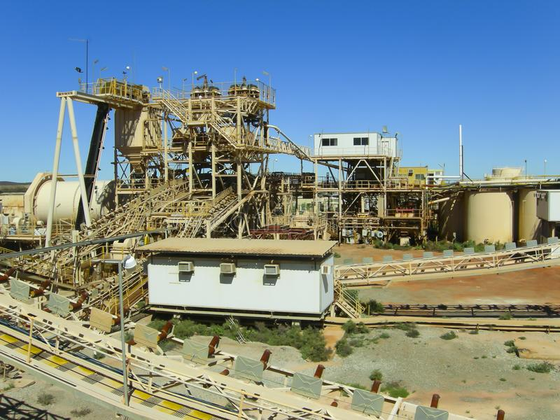 Gold Mining Process Plant. Gold Mining Industrial Process Plant royalty free stock photos