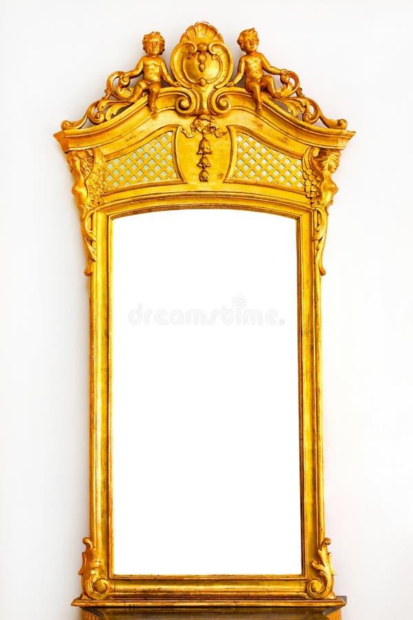 Gold mirror stock photo