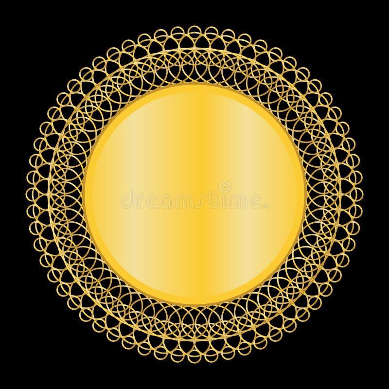 Gold Mirror royalty free illustration