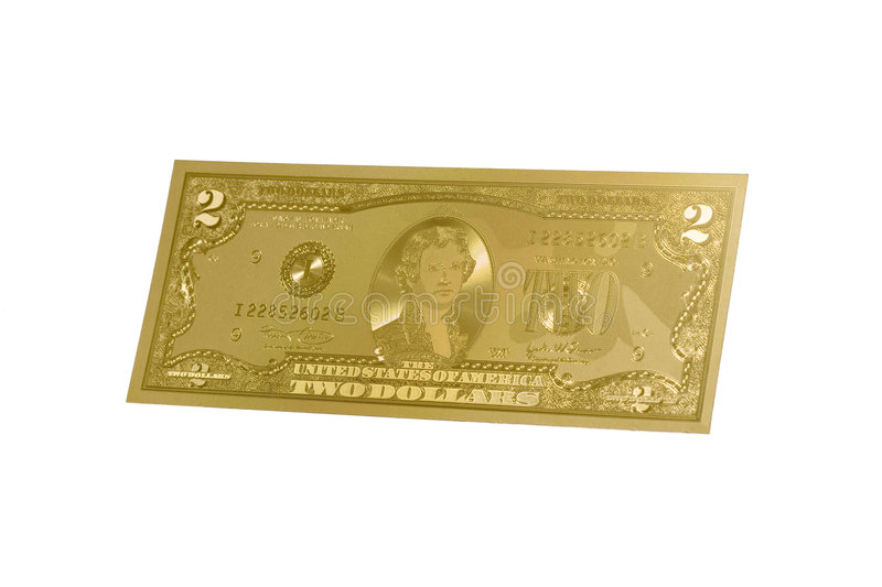 Gold money stock photography