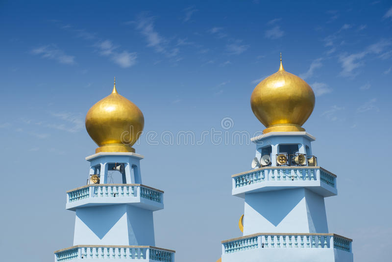 Gold mosque stock image