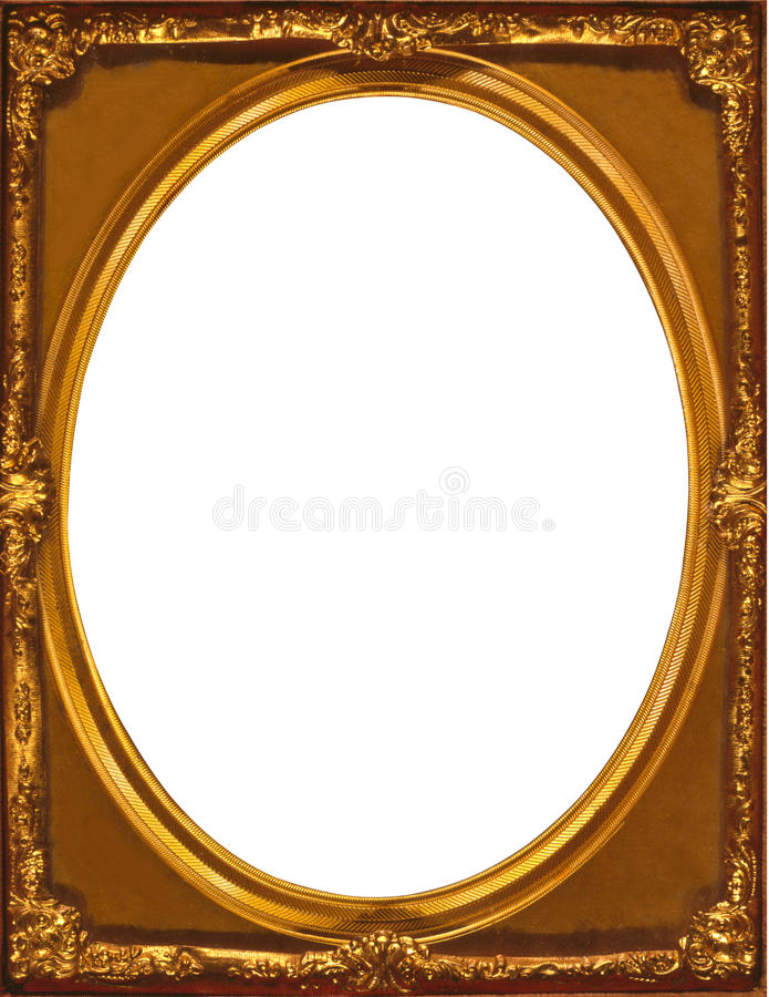 Gold Multilayered Frame Inner Oval Within A Rectangular Frame Stock ...