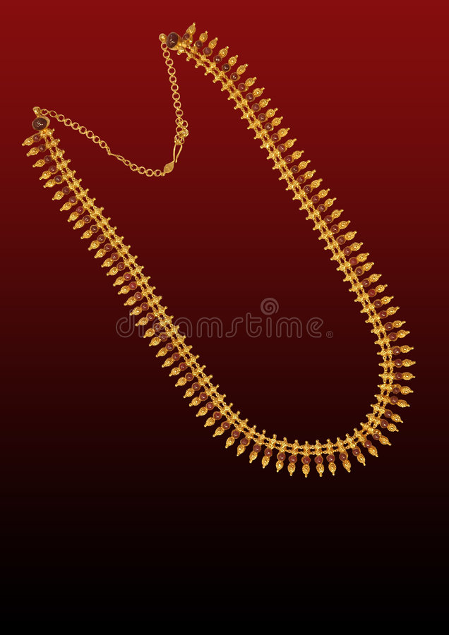 Download Gold neck-less stock image. Image of commercial, economy - 4797135