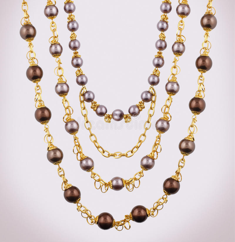 Download Gold necklace stock image. Image of accessory, necklace - 20972039