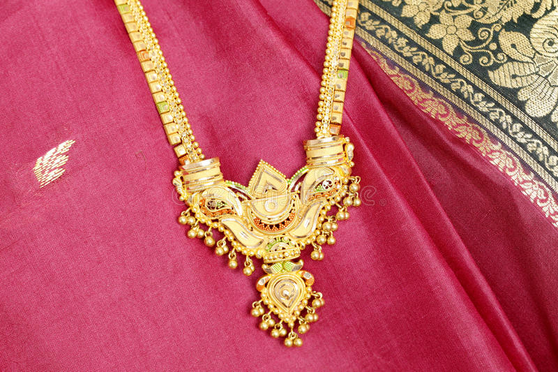 Download Gold necklace stock image. Image of blue, jewelry, necklace - 21193339