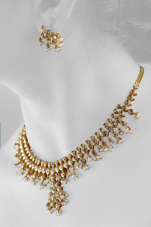 Gold necklese royalty free stock images