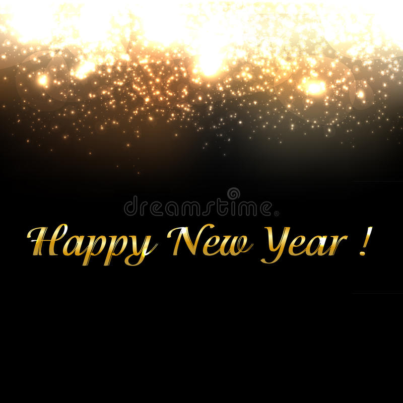 Gold New Year Background With Blur