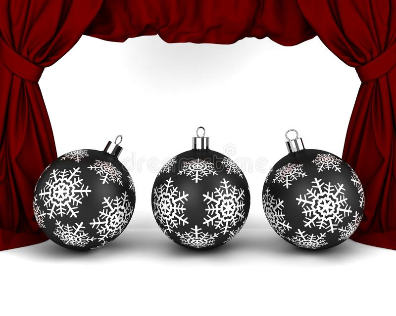 Download Gold New Year's balls stock illustration. Image of fabric - 27231369