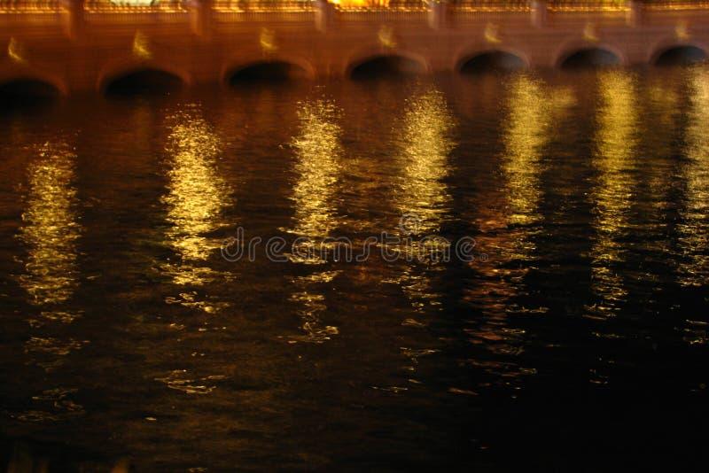 gold night water texture 1, Las Vegas stock images