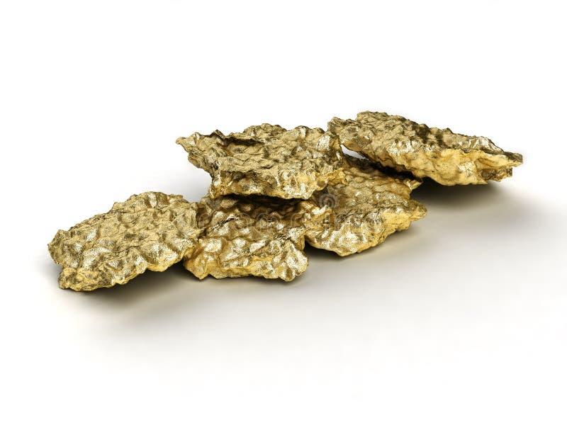 Gold nugget stock illustration