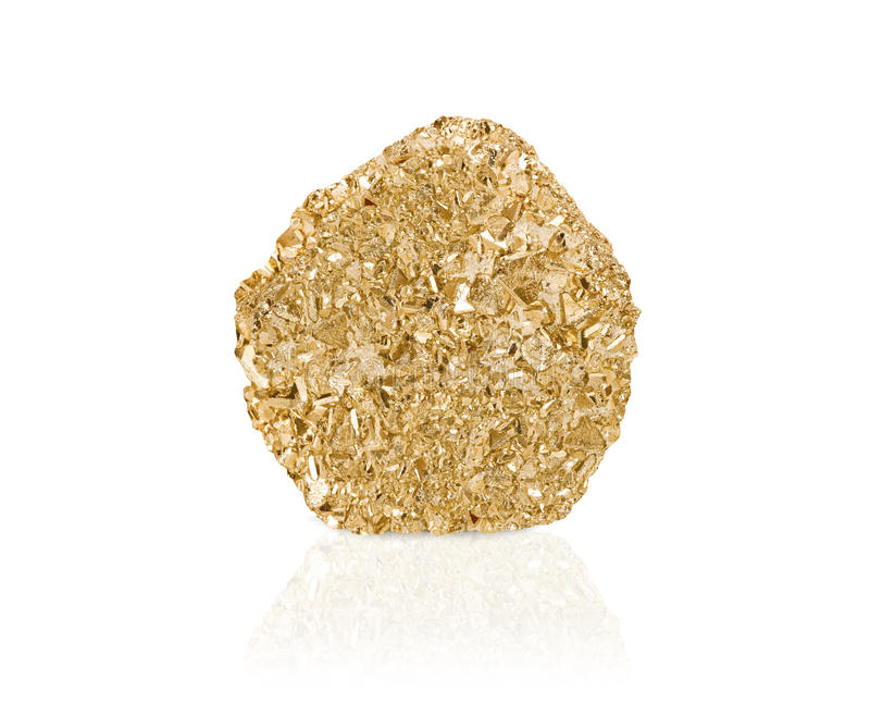 Gold nugget stock image