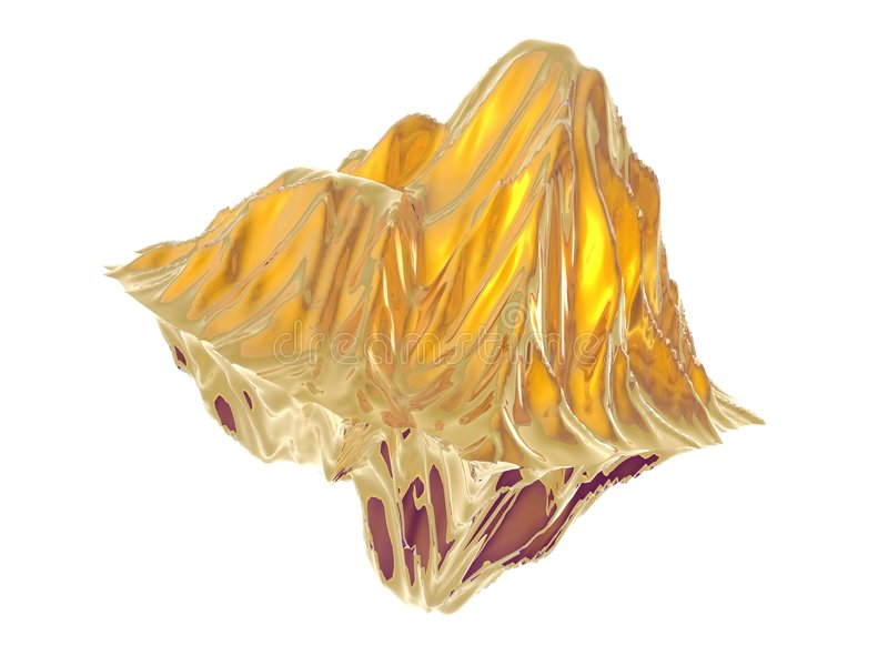 Download Gold Nugget stock illustration. Image of precious, white - 6966657