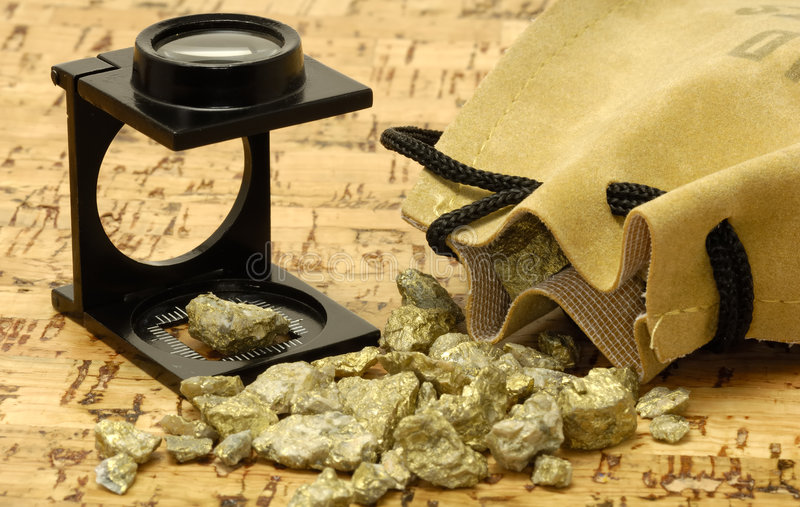 Gold Nugget royalty free stock photography