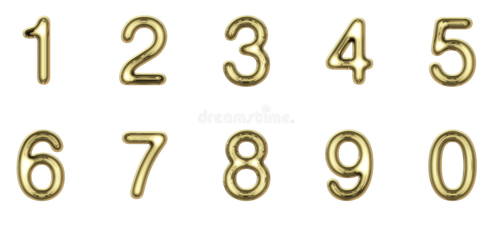 Download Gold numbers stock photo. Image of seven, gold, five - 27830842