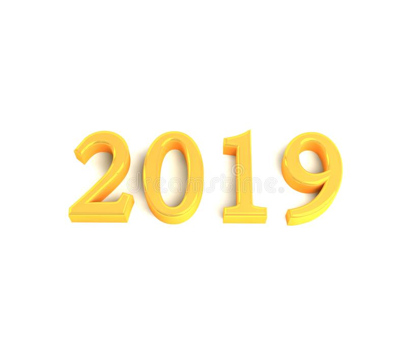 Gold numbers 2019 royalty free stock photography