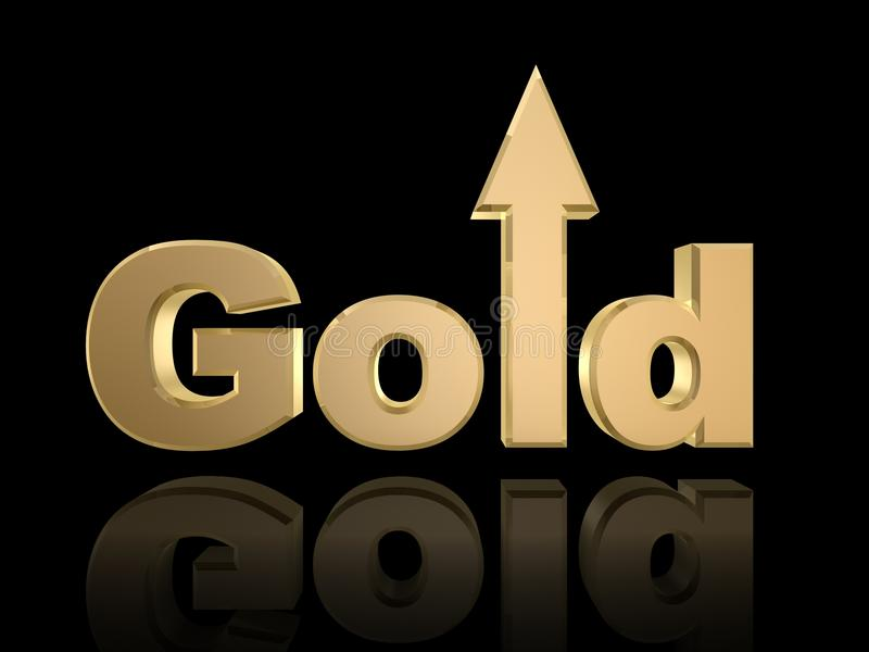 Gold oben lizenzfreie abbildung
