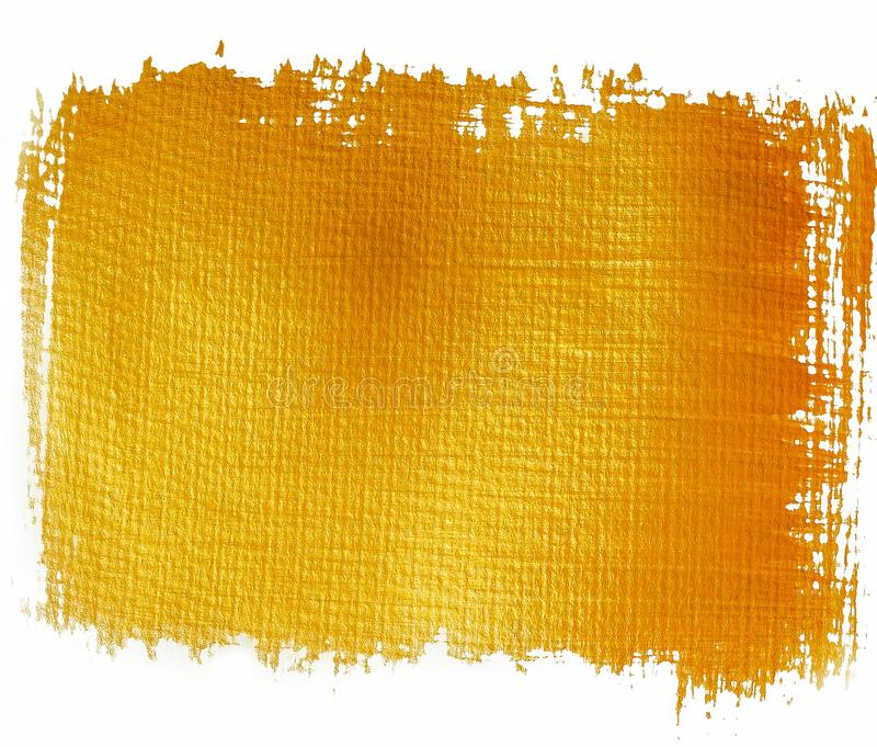 Gold orange painted banner royalty free illustration