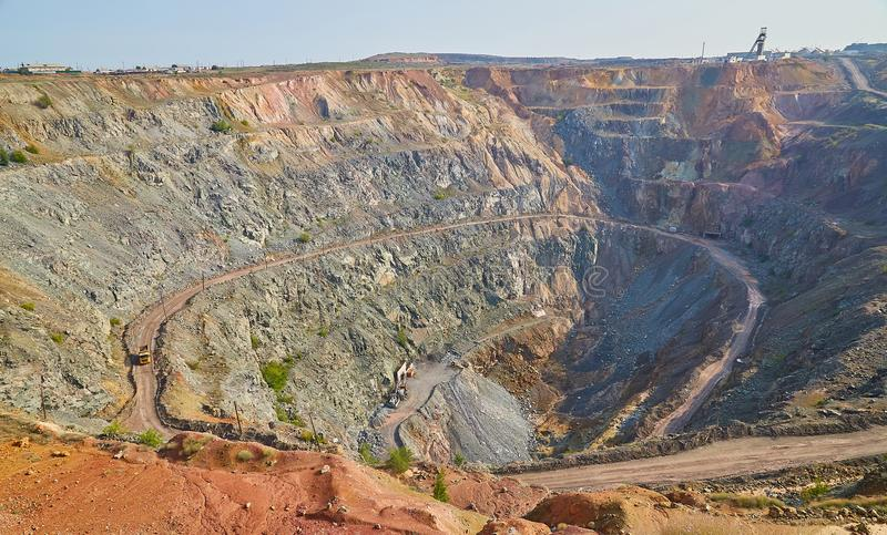 Gold, ore, open pit mining,Kazakhstan stock photos
