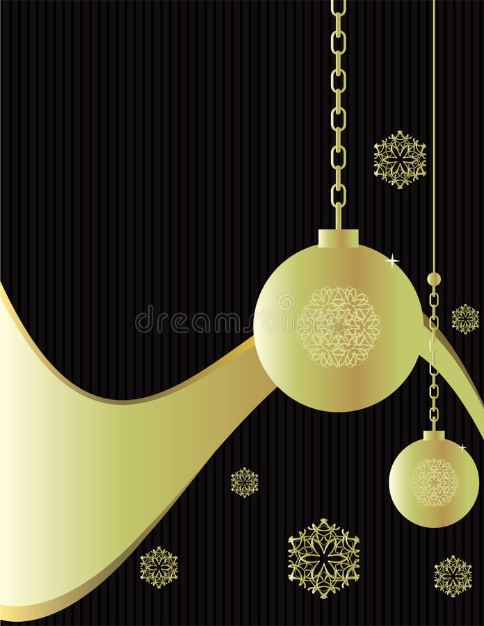 Gold ornament background stock illustration