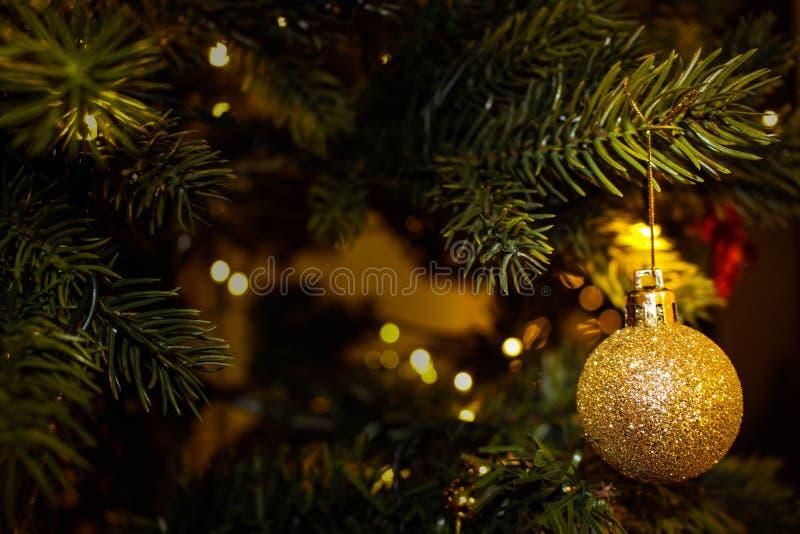 Gold Ornament On Christmas Tree Free Public Domain Cc0 Image