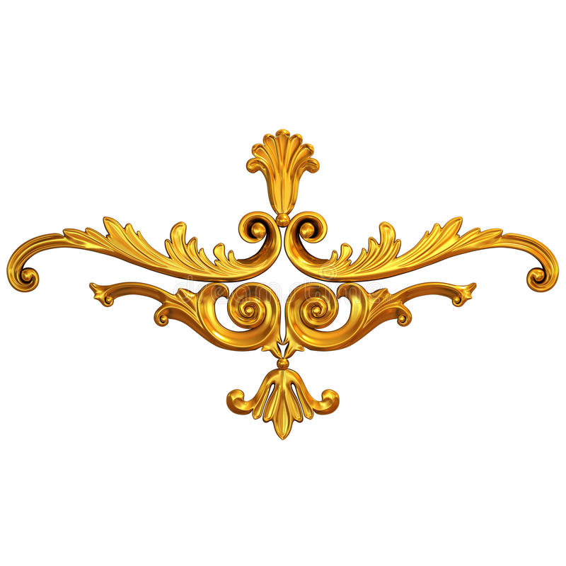 Gold ornament stock photo. Image of carved, copper, molding - 52710220