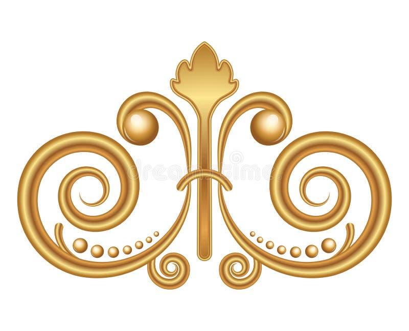 Gold ornament stock vector. Illustration of molding, flower - 34180945