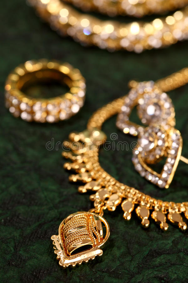 Download Gold ornaments stock photo. Image of beautiful, necklace - 22671176