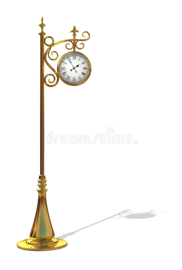 Gold Outdoor clock royalty free stock images
