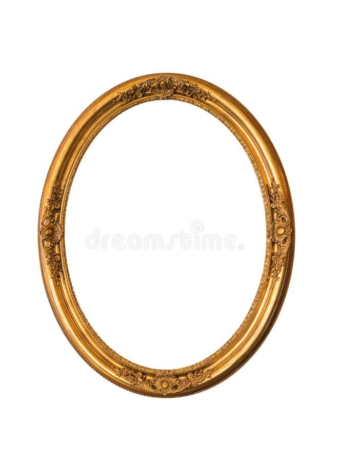 Free Gold Oval Frame Elegant Vintage Interesting Design Or Photo Oval Picture Frame Isolated On White Background Stock Photos - 188744643
