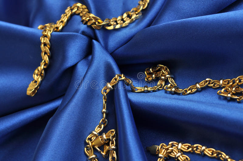 Download Gold over blue satin stock image. Image of cloth, blue - 23401413