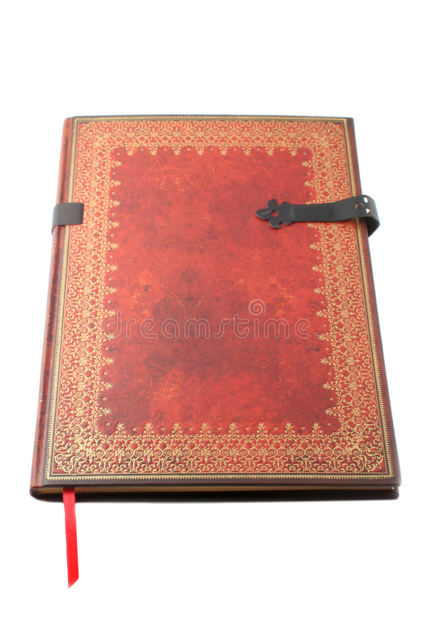 Gold paged book stock photo