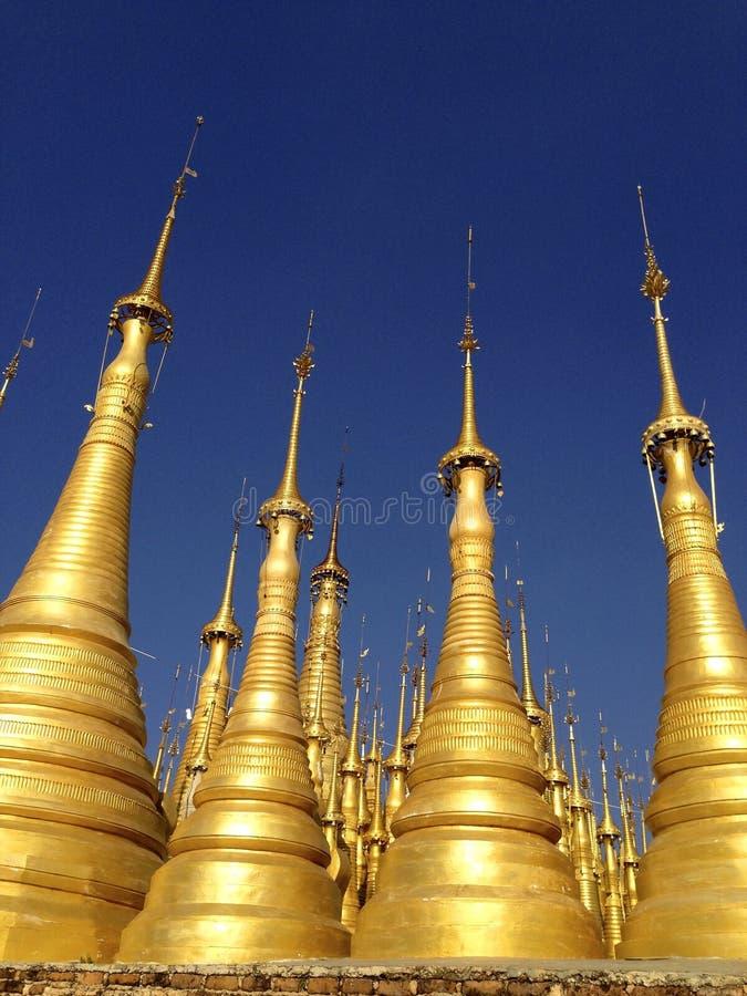 Gold Pagodas, Myanmar Free Public Domain Cc0 Image