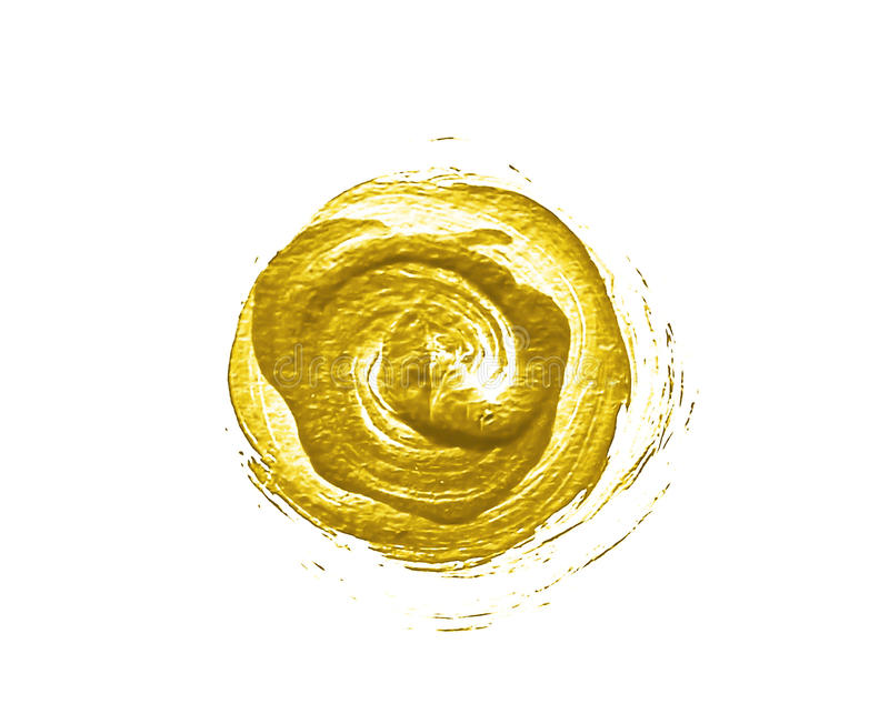 Gold painted circle stock illustration