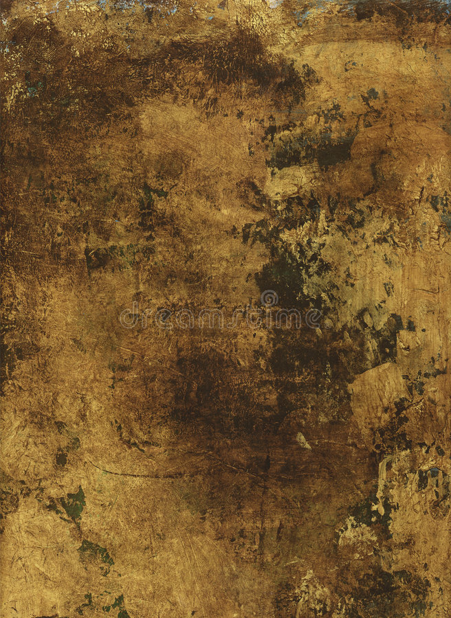 Gold Painted Paper stock images