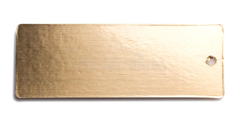 Gold Paper Card Tag Label. On White background royalty free stock images