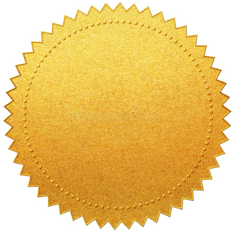 Free Gold Paper Diploma Or Certificate Seal Isolated Royalty Free Stock Images - 155797349
