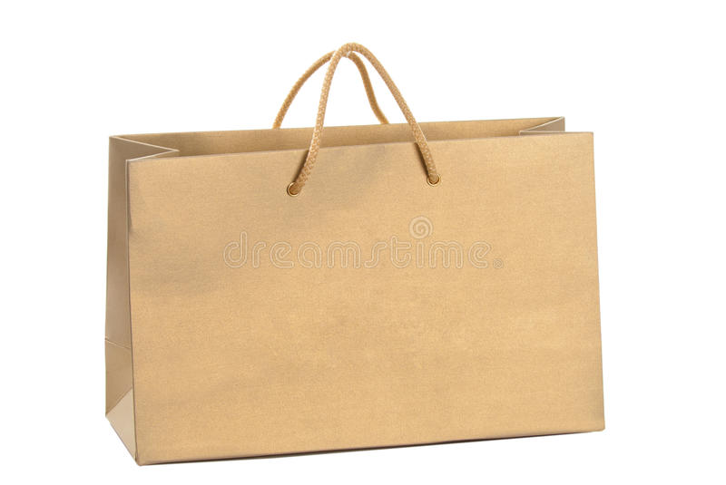 Download Gold paper shopping bag stock image. Image of handle - 23167639
