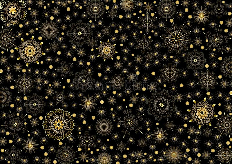 Gold Pattern royalty free illustration