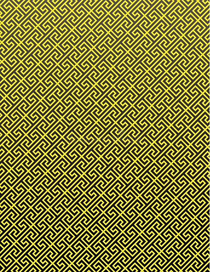 Gold Pattern on Black Background stock image