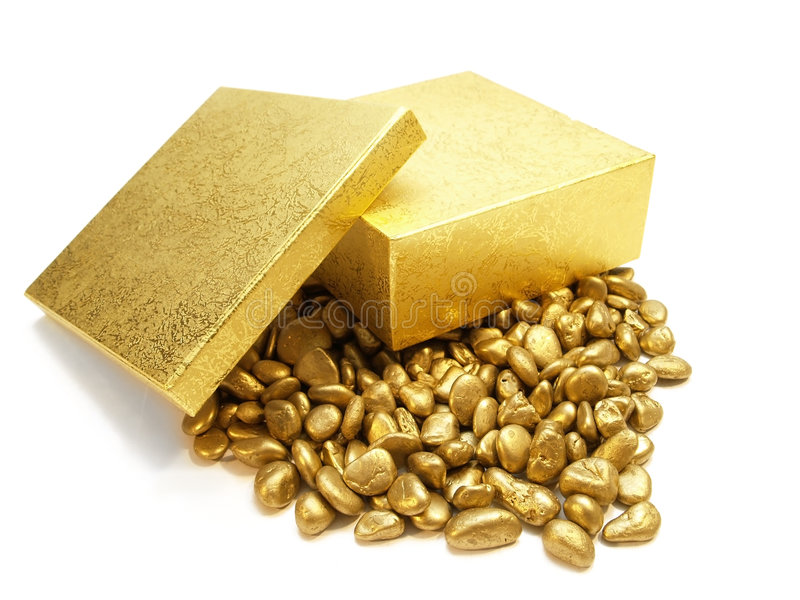 Gold pattern pebbles royalty free stock image